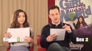 Disneys Girl Meets World Stars Rowan Blanchard And Ben Savage Play 90s V Noughties