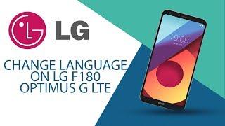 How to change language on LG Optimus G LTE F180?