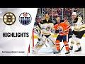 Nhl Highlights Bruins Oilers 2 19 20