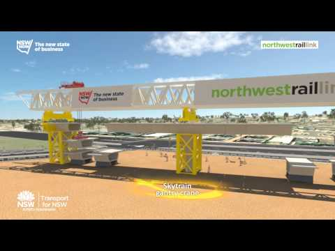 Wallace Concrete Pumping Contractor services Feature Project: North West Rail Link SkyTrain -