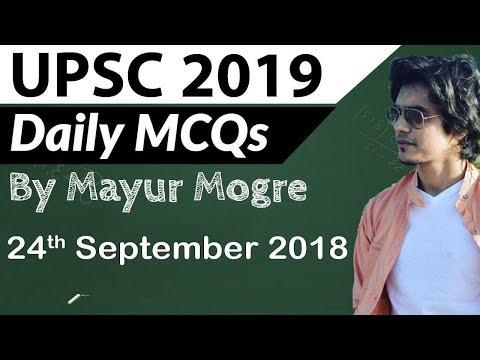 UPSC 2019 Preparation - 24 September 2018 Daily Current Affairs for UPSC / IAS 2019