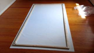 Homemade projector screen under $45