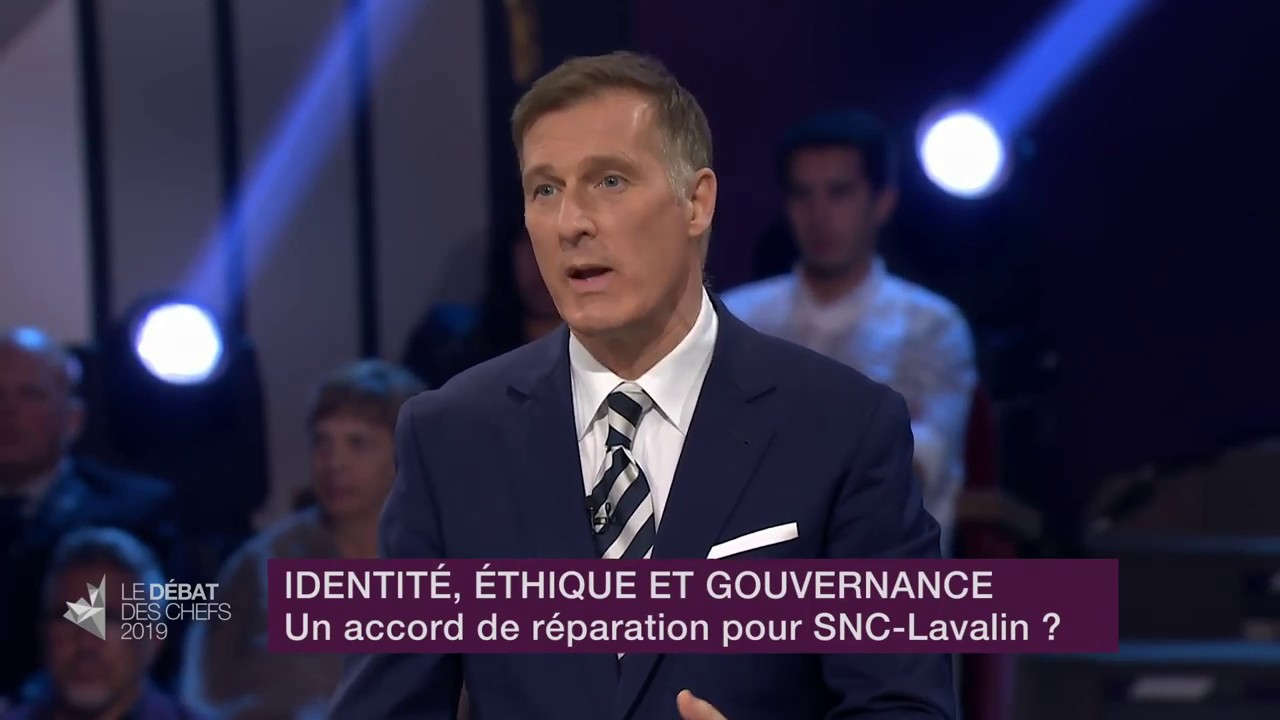 Maxime Bernier answers a question about SNC-Lavalin