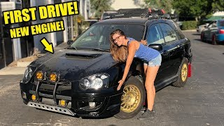 RARE STI SWAPPED WAGON FIRST DRIVE! WE BROUGHT HER BACK TO LIFE!