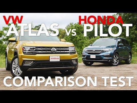 2018 Volkswagen Atlas vs 2017 Honda Pilot Comparison Test
