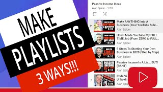 How To Make A Playlist on YouTube - 3 Ways