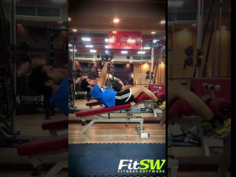 Barbell Push Crunch: Exercise Demo How-to