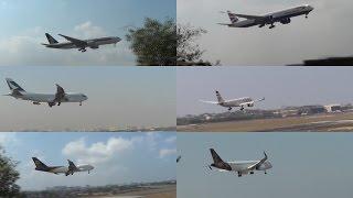 Back 2 Back 17 Plane Landing At Mumbai International Airport