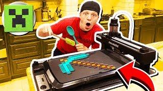MAKING MINECRAFT PANCAKES WITH A PANCAKE ROBOT!