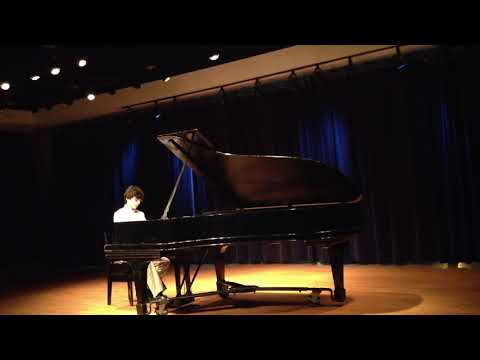 Performing Aram Khachaturian's Toccata in E-flat minor at the age of 14.