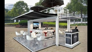 Automatic container coffee shop/mobile restaurant