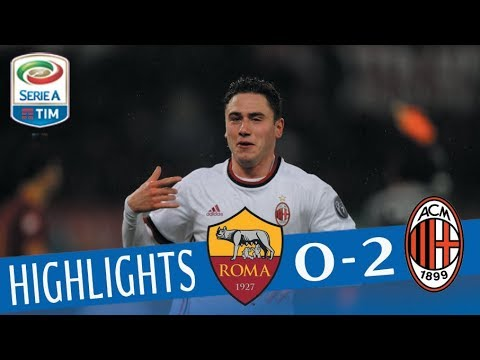 Roma - Milan 0-2 - Highlights - Giornata 26 - Serie A TIM 2017/18
