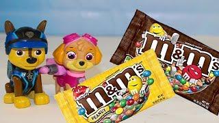 Щенячий патруль все серии подряд Сборник Мультики для детей Учим цвета с конфетами M&M