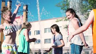 David Street Station Hilltop Bank Splash Pad Grand Opening