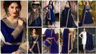 Blue Colours Combination Ideas Suits Kurti Dress ? Blue Colour Contrast Combination Ideas ?