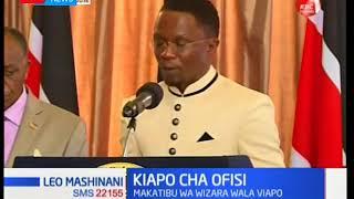 Uapisho wa Ababu Namwamba kama katibu katika wizara ya maswala ya nje