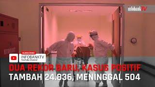REKOR BARU!! KASUS POSITIF TAMBAH 24.836 MENINGGAL 504