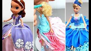 Amazing Princess DOLL CAKES Compilation   Disney Cinderella Snow White Sofia