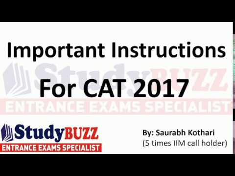 Important instructions before taking CAT 2017!