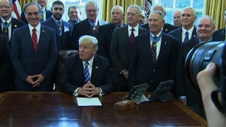 Trump Welcomes Medal Of Honor Recipients