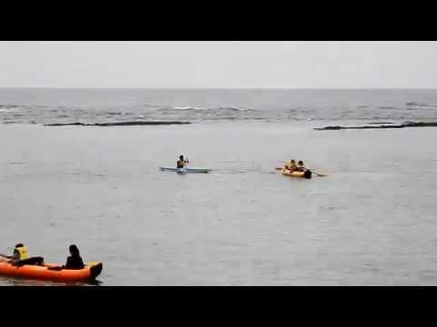 ≪黒組≫宿泊学習「カヌー」与名間海岸 - 亀津小学校5年生・第2弾
