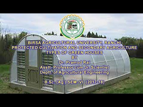 , title : 'TYPES OF GREEN HOUSES  Lec. 5 Dr. Pramod Rai