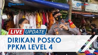 Polsek Kuta Dirikan Posko PPKM Level 4 di Pasar Kuta, Penjual yang Punya Surat Vaksin Diberi Sembako