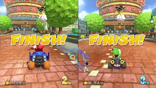 Mario Kart 8 Mushroom Cup (2 Player) Mario And Luigi Competition #3