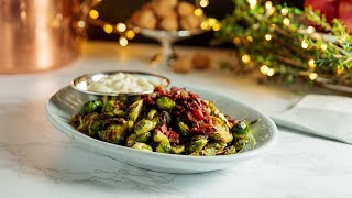 Brussels Sprouts with Bacon + Aioli