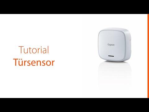 Dieses Tutorial zeigt, wie man den Türsensor des Gigaset Alarmsystems in Betrieb nimmt und verwendet.