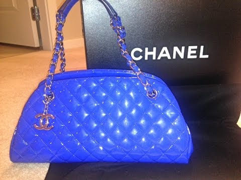 Unboxing Chanel Mademoiselle Patent Leather Bowling Purse Haul