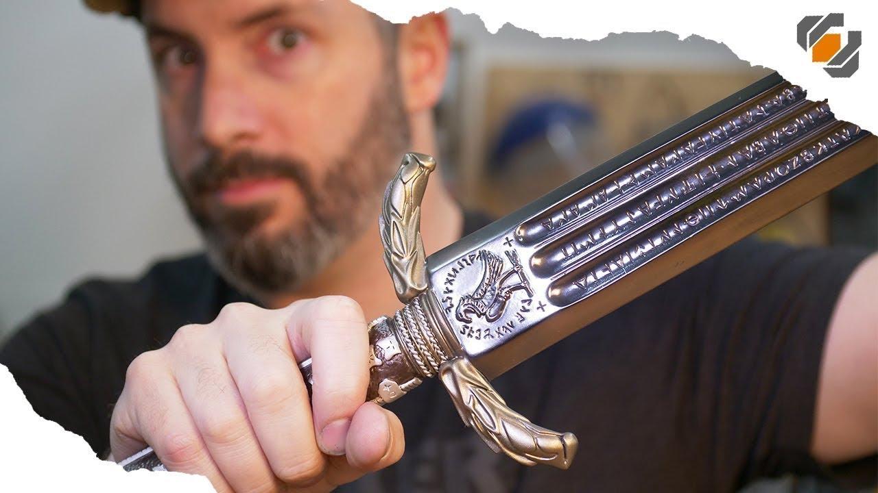 SHINY! Graphite vs  Metallic Finishes - Wonder Woman's Sword