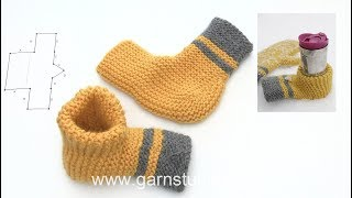 How to assembly the beer mitten in DROPS Extra 0-1422