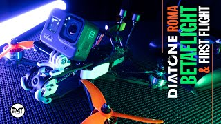 Diatone Roma DJI f5 fpv Crossfire and Betaflight set-up with First Test Flight