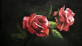 Pintando rosas vermelhas com Kevin Hill