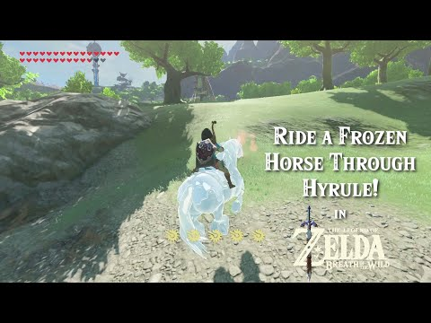 How to Ride a FROZEN HORSE in The Legend of Zelda Breath of the Wild (Glitch)!