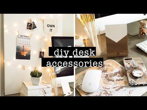 DIY DESK ACCESSORIES // COPPER & WHITE DESK DECOR | XO, MaCenna
