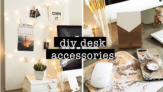 DIY DESK ACCESSORIES // COPPER & WHITE DESK DECOR | XO, MaCenna
