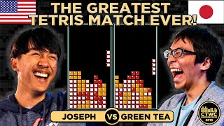 Greatest Classic Tetris Match EVER! Greentea vs. Joseph EPIC 2019 CTWC Quarterfinal FULLSCREEN