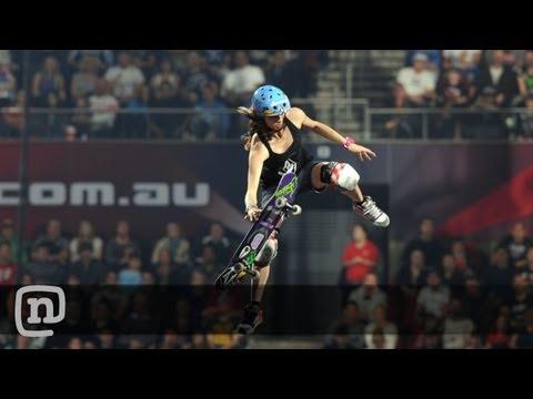 Skateboarder Lyn-Z Adams Hawkins Pastrana Interview & Nitro Circus Live