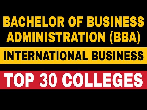 BBA International Business Top 30 Colleges in India | BBA Best Colleges in India | Latest 2020-2021
