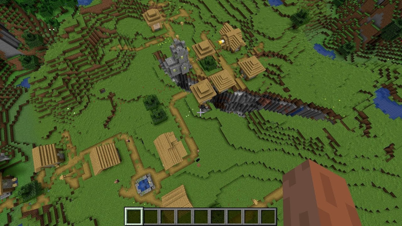 Minecraft 1.15 Seed Double village & Blacksmith ravine MINECRAFT SEED 632705027016