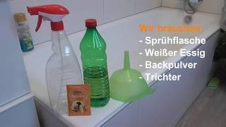 Badezimmer Putztrick: Bad Und Dusche Mühelos Reinigen - Lifehack Bad Putzen