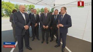 Президент Беларуси ознакомился с развитием территорий возле МКАД ко II Европейским играм. Панорама