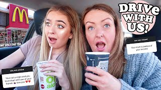 DRIVE WITH ME & MY MUM! WE ANSWERED YOUR ASSUMPTIONS...