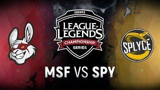 MSF vs. SPY - Week 2 Day 1   EU LCS Summer Split   Misfits Gaming vs. Splyce (2018)