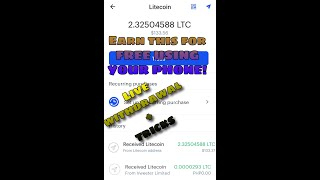 Earn 1 Litecoin per day!! Photon Poker Live payment proof!! How to earn free litecoin in android.