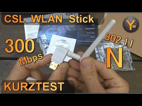 Kurztest: CSL USB 2.0 WLAN Stick 300Mbps 802.11n / 2,4Ghz WiFi Adapter Dongle
