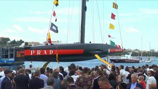 AC36: Watch a replay of the Luna Rossa Prada Pirelli launch ceremony today at their team base in Cag