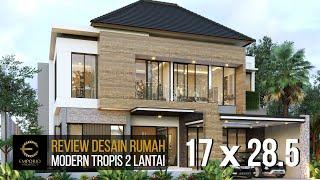 Video Desain Rumah Modern 2 Lantai Bapak Dharma di  Bekasi, Jawa Barat